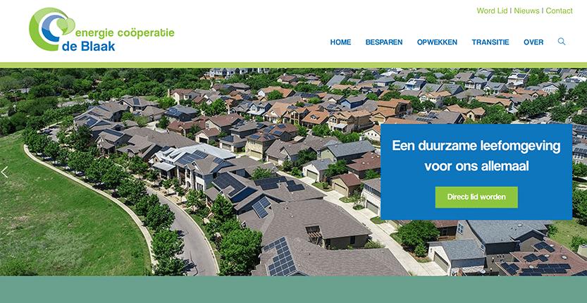 Website in ontwikkeling